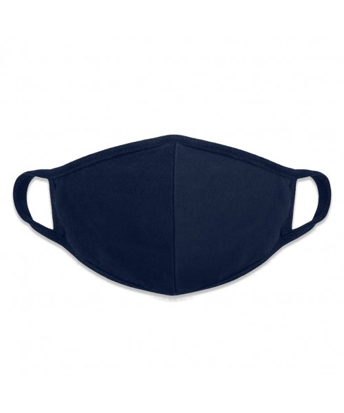 Filtering Cotton Dark Blue Face Mask Woman