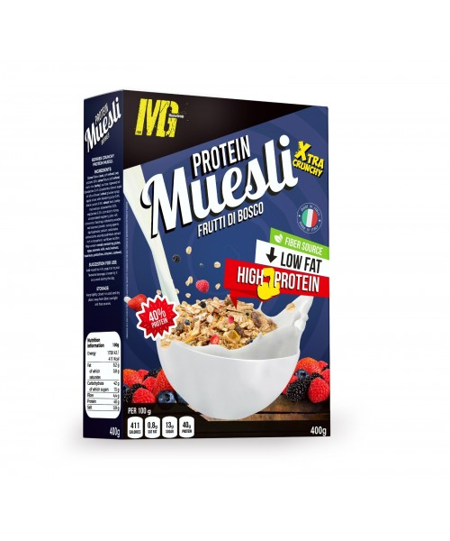 Muesli 40% Protein Berries Extra Crunchy 400g
