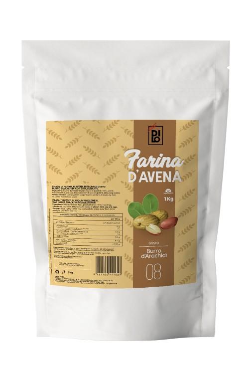 Peanut Butter Flavored Oat Flour - Dilo Farina 1000g