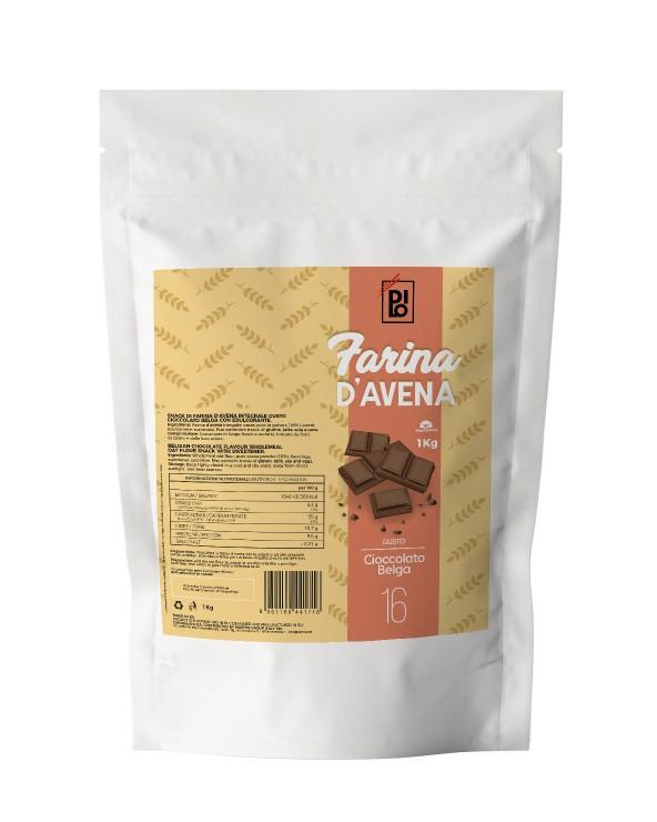 Belgian Chocolate Flavored Oat Flour - Dilo Farina 1000g