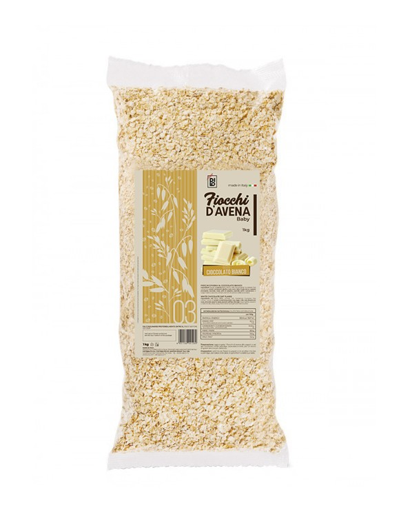 White Chocolate Flavored Baby Oat Flakes - Dilo Oat Flakes 1000g
