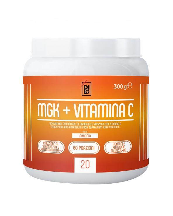 Magnesium, Potassium + Vitamin C - DILO MGK Taste: Orange 300gr