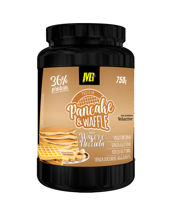 Pancake & Waffle 36% Protein Wafer and Hazelnut 750g