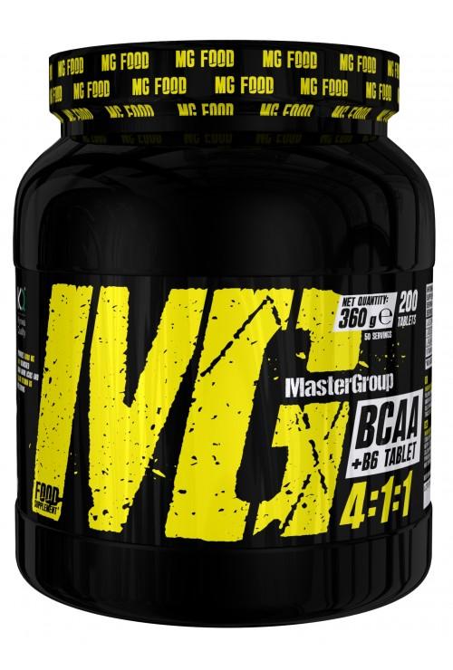 MG Food Supplement Bcaa 4: 1: 1 With Vitamin B6 200tab