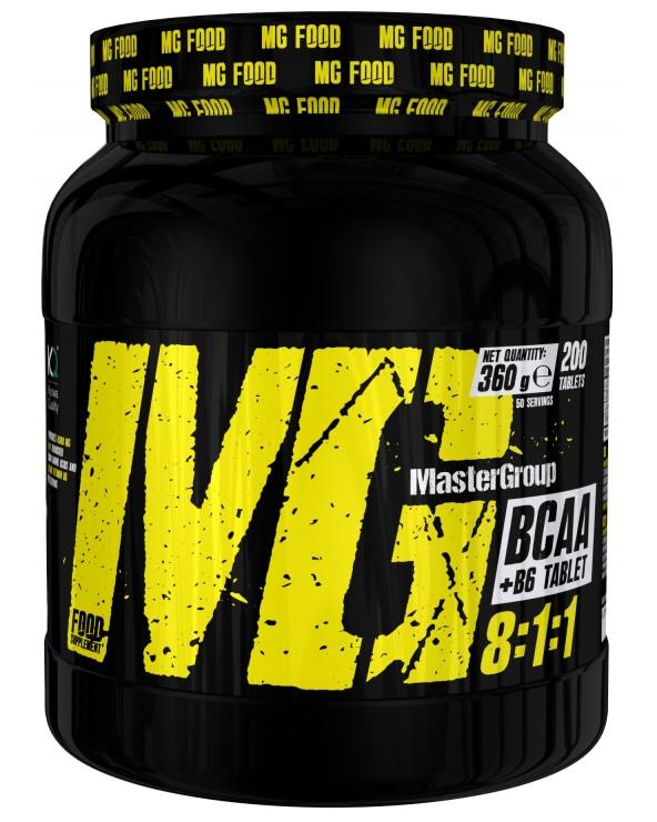 MG Food Supplement Bcaa 8: 1: 1 With Vitamin B6 200tab