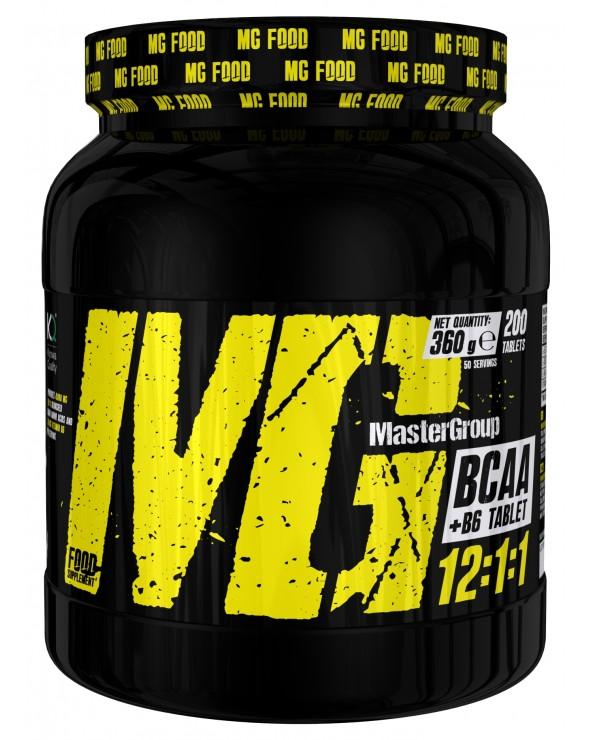 MG Food Supplement Bcaa 12: 1: 1 With Vitamin B6 200tab